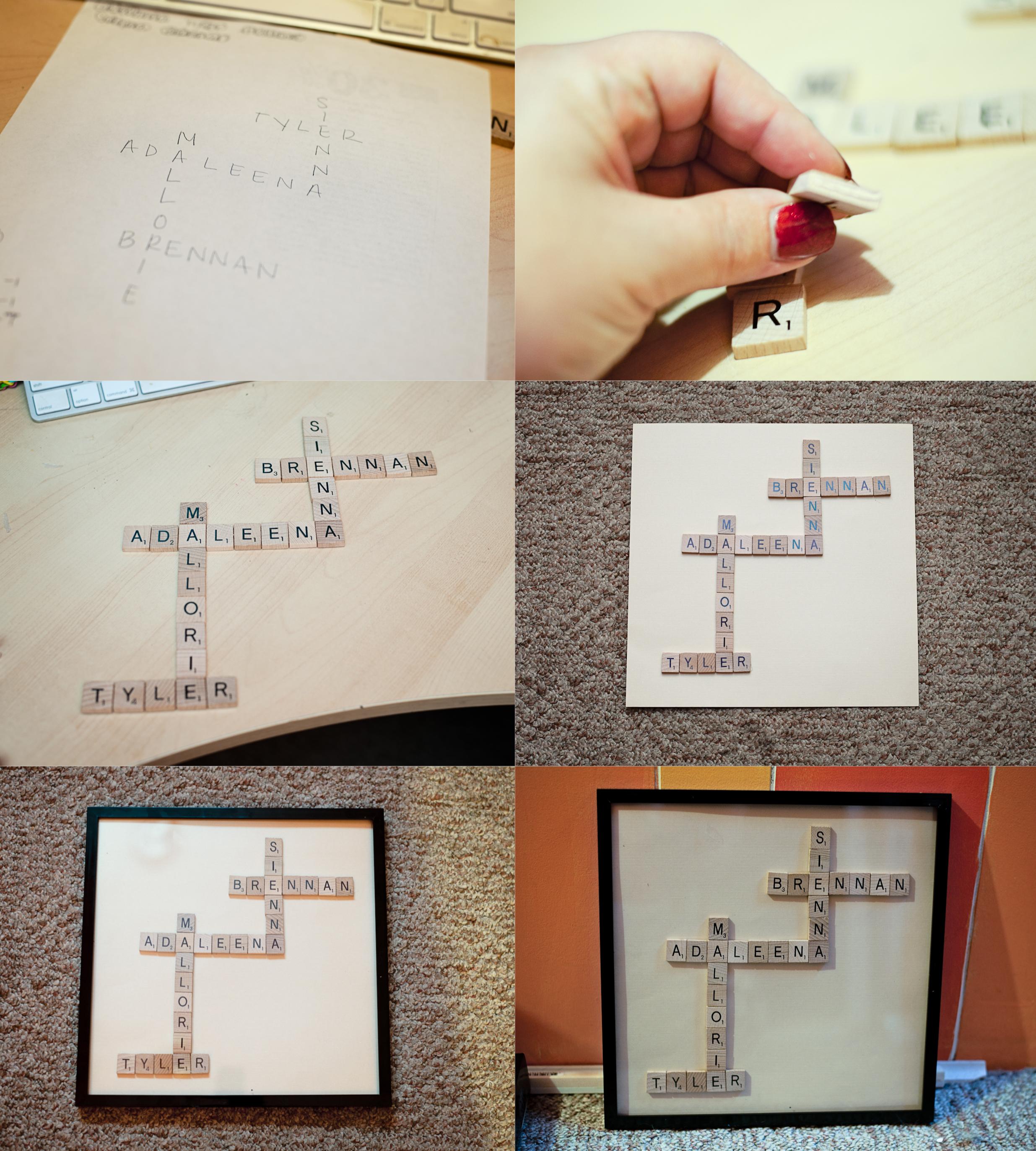 Crafts 365ofpinterest – Scrabble Baby Announcement