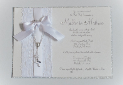 Crafts 365ofpinterest i fell in love with some pretty fancy communion invitations i saw on etsy but being the crafty person i am i knew i could do it myself for way cheaper solutioingenieria Choice Image